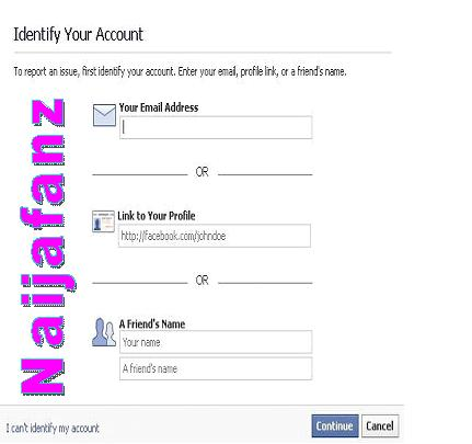 How to delete someone else facebook in the place of email address where you can be contacted enter the fake email u created you will get a email on that id in which facebook people will ccuart Gallery